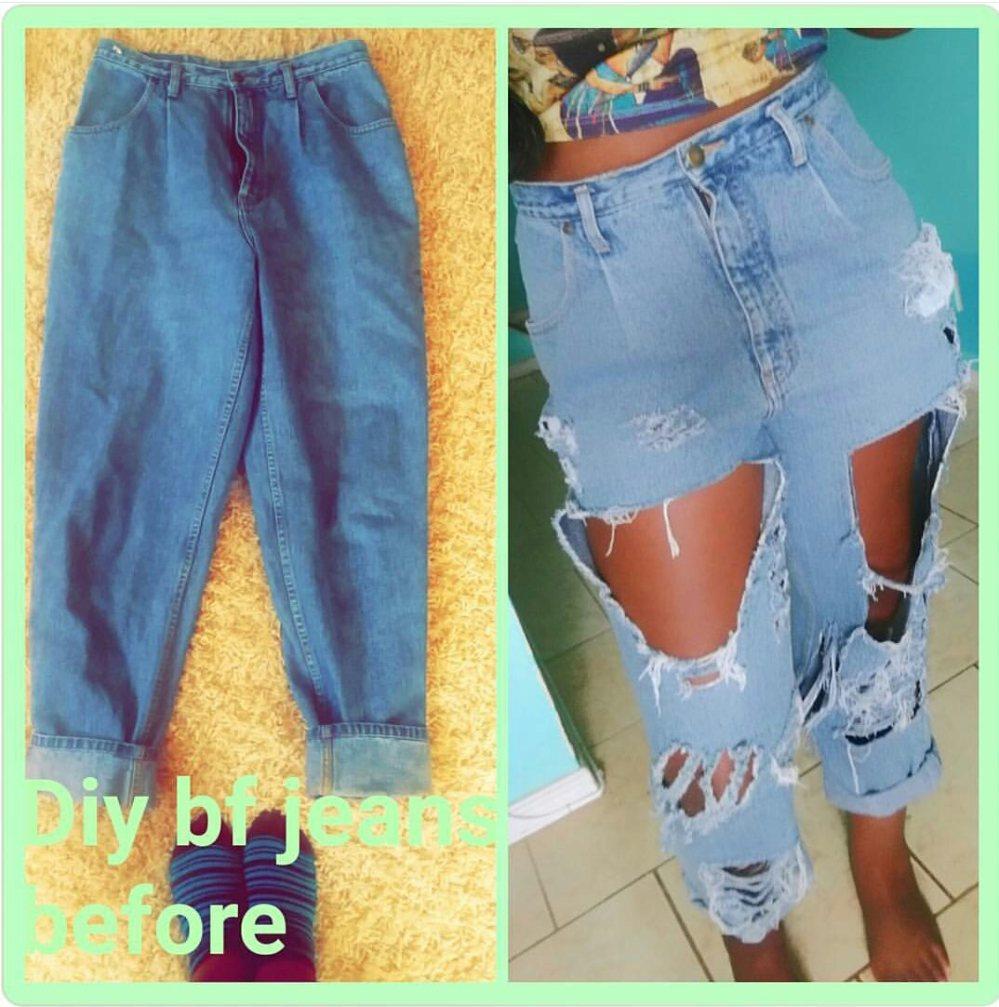 Diy Distressed Jeans Men Women Zee Zoetic